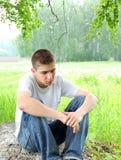 Adolescente triste Fotografía de archivo libre de regalías