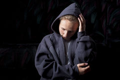 Adolescente triste Imágenes de archivo libres de regalías