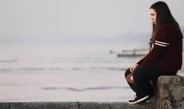 Adolescente triste Fotografia de Stock Royalty Free