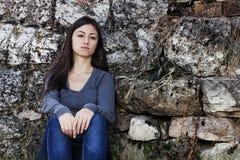Adolescente triste Foto de archivo libre de regalías