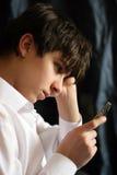Adolescente triste Fotografie Stock Libere da Diritti