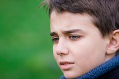 Adolescente triste fotos de stock