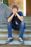 Adolescente triste al aire libre Imagen de archivo libre de regalías