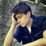 Adolescente triste al aire libre Fotografía de archivo