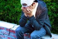 Adolescente triste al aire libre Fotografía de archivo libre de regalías