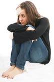 Adolescente triste de la muchacha Fotografía de archivo