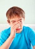 Adolescente triste en el hogar Fotografía de archivo libre de regalías