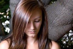 Adolescente triste hermoso Imagen de archivo libre de regalías