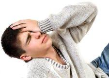 Adolescente triste y preocupado Imagen de archivo