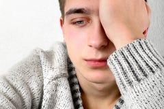 Adolescente triste y preocupado Foto de archivo libre de regalías