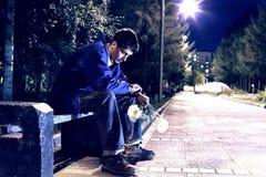 Adolescente triste y solo Foto de archivo libre de regalías