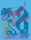 Adolescente tropical Imagem de Stock