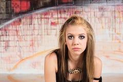 Adolescente urbano pensativo Fotografía de archivo libre de regalías