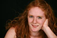 Adolescente verdadero con el pelo rojo Fotografía de archivo libre de regalías