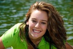 Adolescente verde Fotografía de archivo libre de regalías