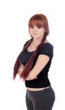 Adolescente vestido en negro con una perforación Fotos de archivo libres de regalías