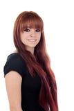 Adolescente vestido en negro con una perforación Fotografía de archivo libre de regalías