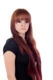 Adolescente vestido en negro con una perforación Imagen de archivo