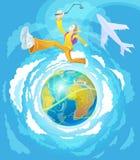 Adolescente - viajero activo ilustración del vector