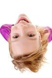 Adolescente visto de arriba Imagen de archivo