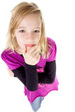Adolescente visto de arriba Imagen de archivo libre de regalías