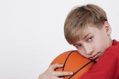 Adolescente y bola Imagen de archivo libre de regalías