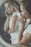 Adolescente y desordenes de personalidad Imagen de archivo