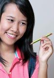 Adolescente y lápiz Imagen de archivo