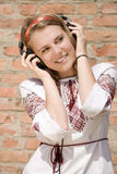 Adolescente y música Imágenes de archivo libres de regalías