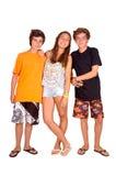 Adolescente y muchachos Imágenes de archivo libres de regalías