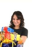 Adolescente y presente Imagen de archivo libre de regalías