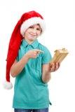 Adolescente y regalo de la Navidad Fotos de archivo libres de regalías