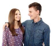 Adolescente y su novia Fotografía de archivo libre de regalías