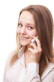 Adolescente y teléfono Foto de archivo