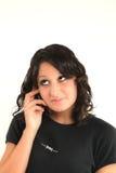 Adolescente y teléfono Foto de archivo libre de regalías