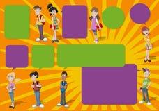 Adolescentes. stock de ilustración