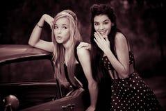 Adolescentes 60s retros fotografia de stock royalty free