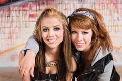 Adolescentes alegres Fotografia de Stock Royalty Free