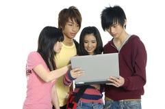 Adolescentes asiáticos Fotografia de Stock Royalty Free