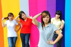 Adolescentes asiáticos novos bonitos Foto de Stock Royalty Free