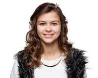 adolescentes Ciérrese encima del retrato de una muchacha sonriente joven Imagen de archivo