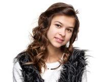 adolescentes Ciérrese encima del retrato de una muchacha sonriente joven Imagen de archivo libre de regalías
