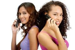 Adolescentes com telefone fotografia de stock