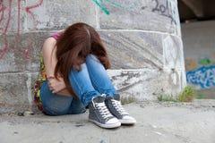 Adolescentes con los problemas, un montón de copia-espacio Imagen de archivo
