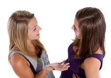 Adolescentes de charla Foto de archivo libre de regalías
