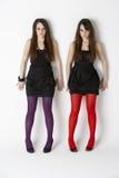 Adolescentes de jumeau de verticale de studio Photos libres de droits