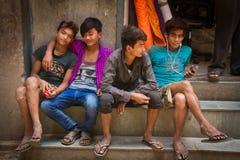 Adolescentes de Katmandu, Nepal Imagen de archivo libre de regalías