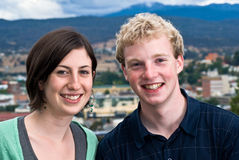 Adolescentes de la pequeña ciudad Fotos de archivo libres de regalías