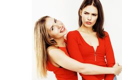 Adolescentes de los mejores amigos junto que se divierten, presentación emocional Imagen de archivo