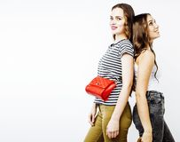 Adolescentes de meilleurs amis ayant ensemble l'amusement, pose émotive Photographie stock libre de droits